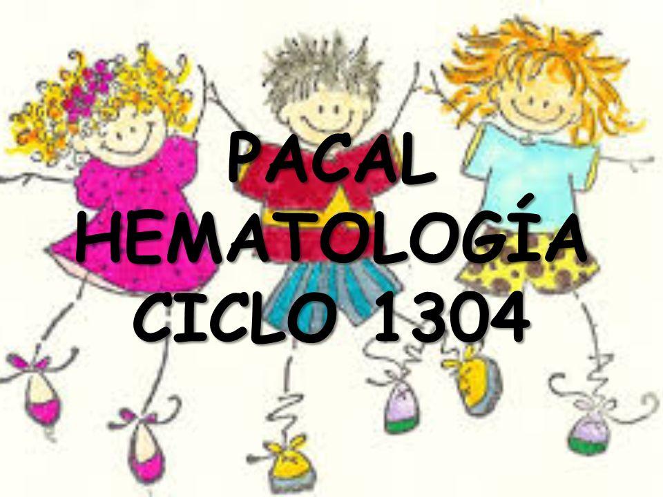 PACAL HEMATOLOGÍA CICLO 1304