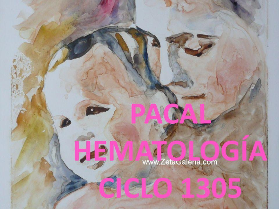 PACAL HEMATOLOGÍA CICLO 1305