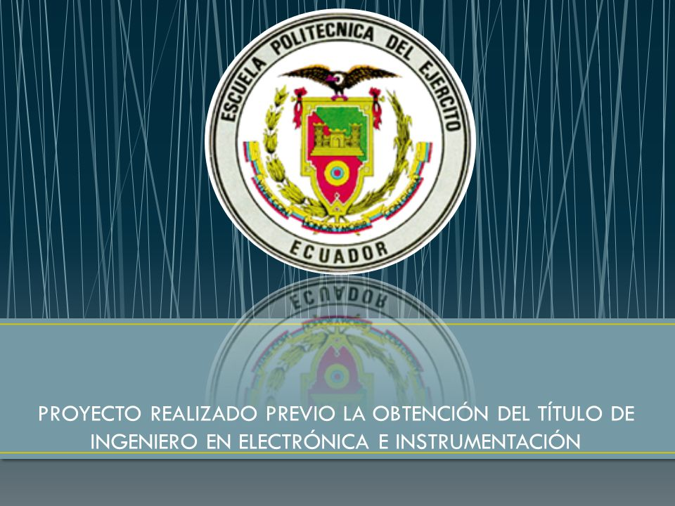 CARRERA DE INGENIERÍA ELECTRÓNICA E INSTRUMENTACIÓN. - ppt video ...