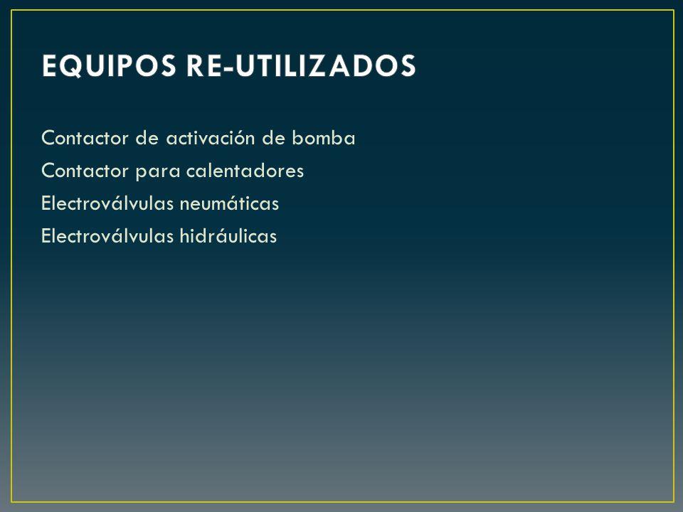 EQUIPOS RE-UTILIZADOS