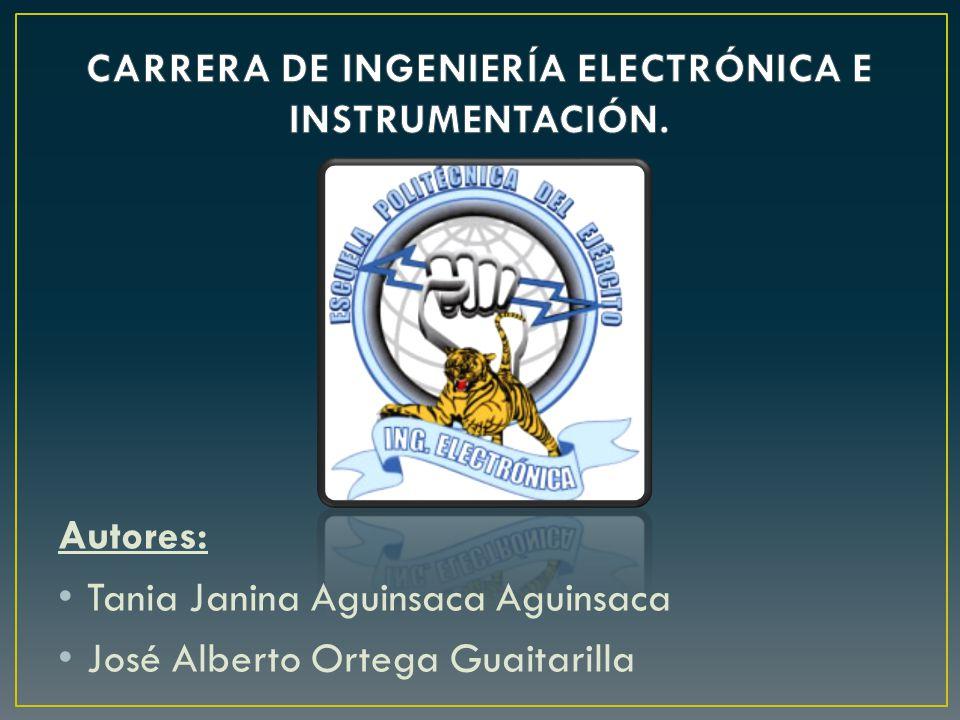 CARRERA DE INGENIERÍA ELECTRÓNICA E INSTRUMENTACIÓN.