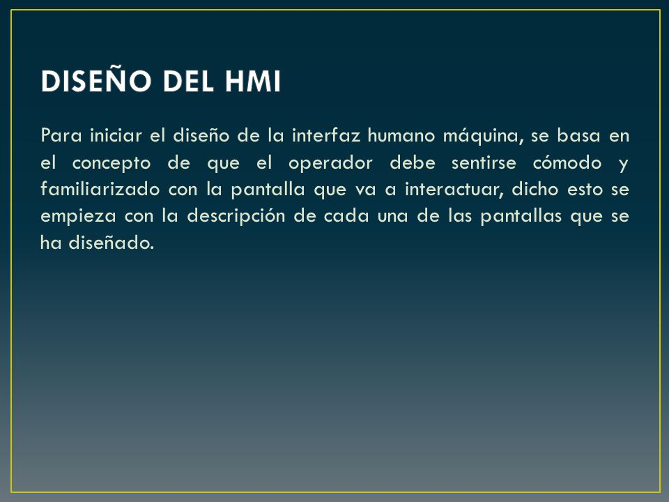 DISEÑO DEL HMI