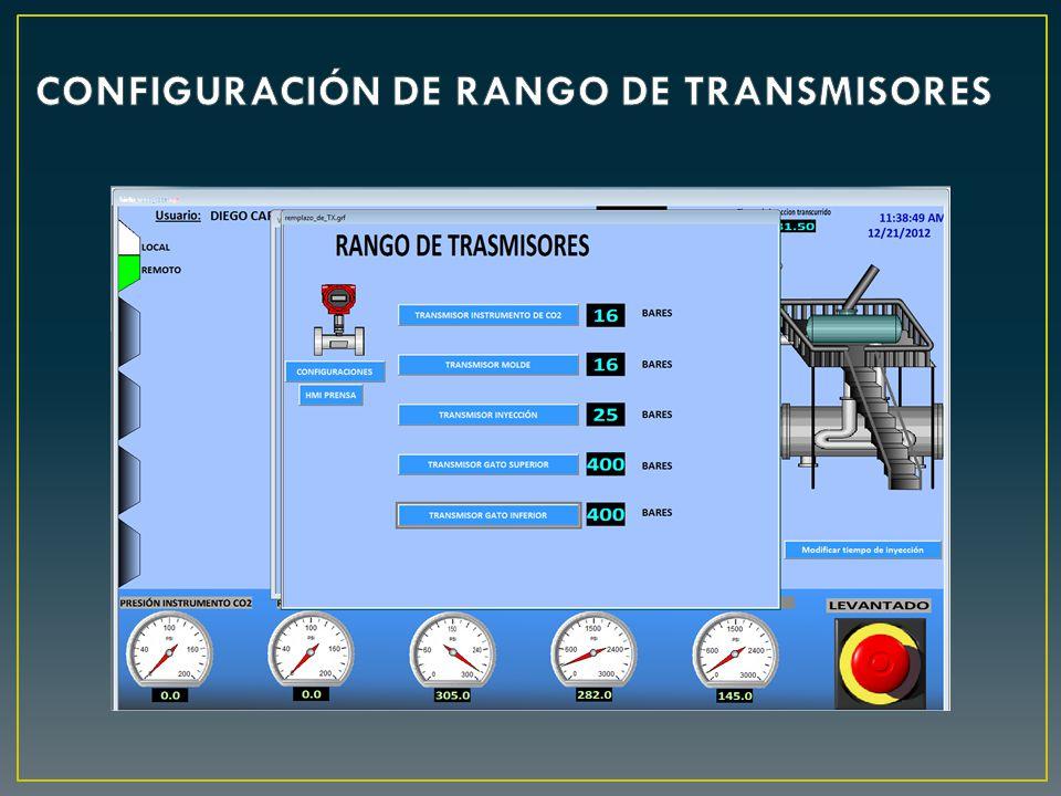 CONFIGURACIÓN DE RANGO DE TRANSMISORES