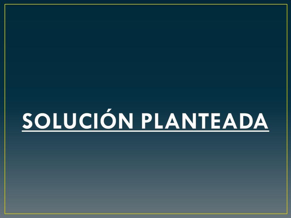 SOLUCIÓN PLANTEADA