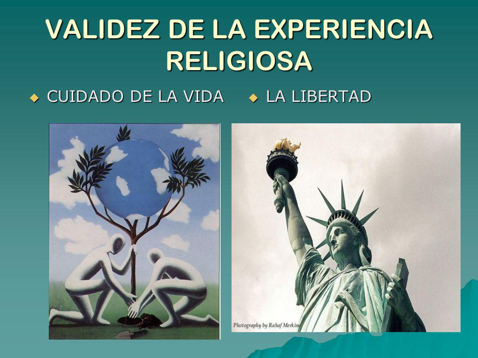 VALIDEZ DE LA EXPERIENCIA RELIGIOSA