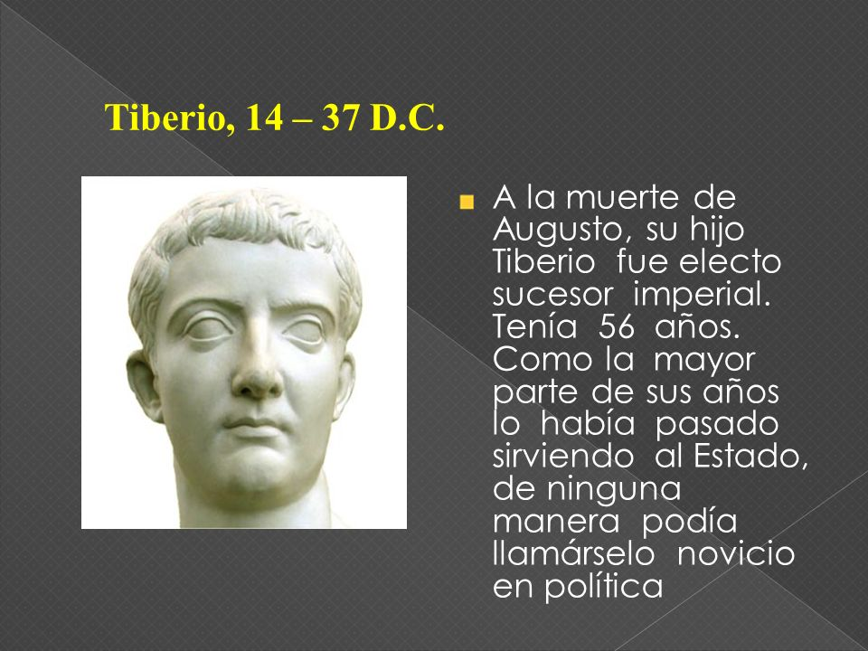 Tiberio, 14 – 37 D.C.