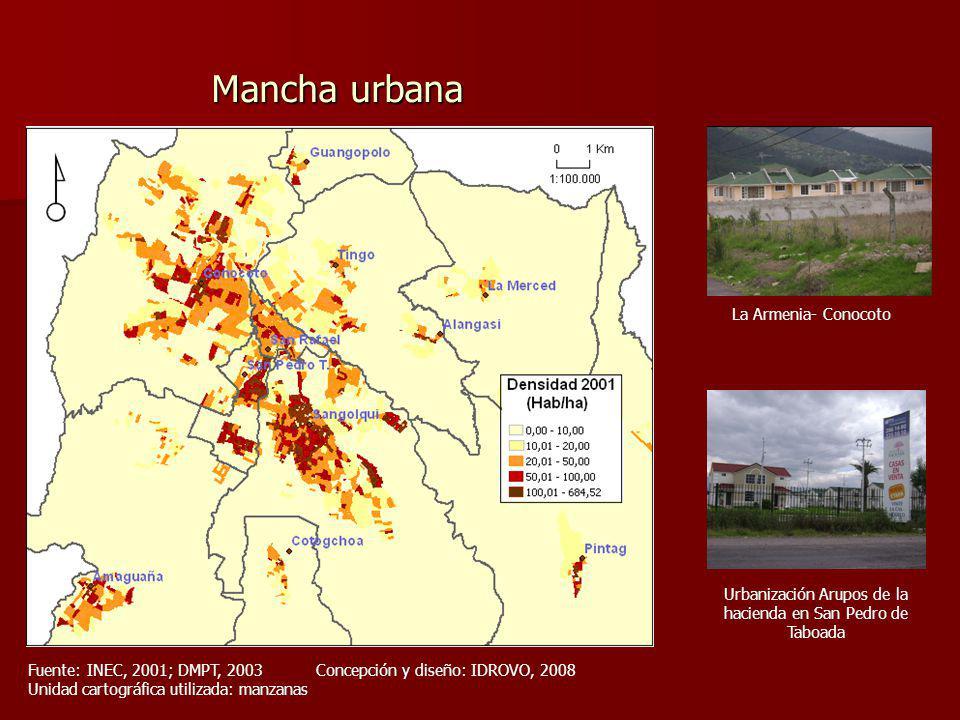 Urbanización Arupos de la hacienda en San Pedro de Taboada