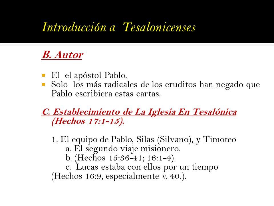 Introducción a Tesalonicenses