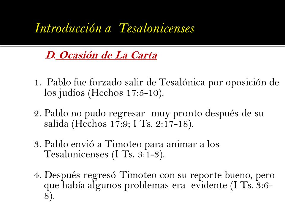 Introducción a Tesalonicenses