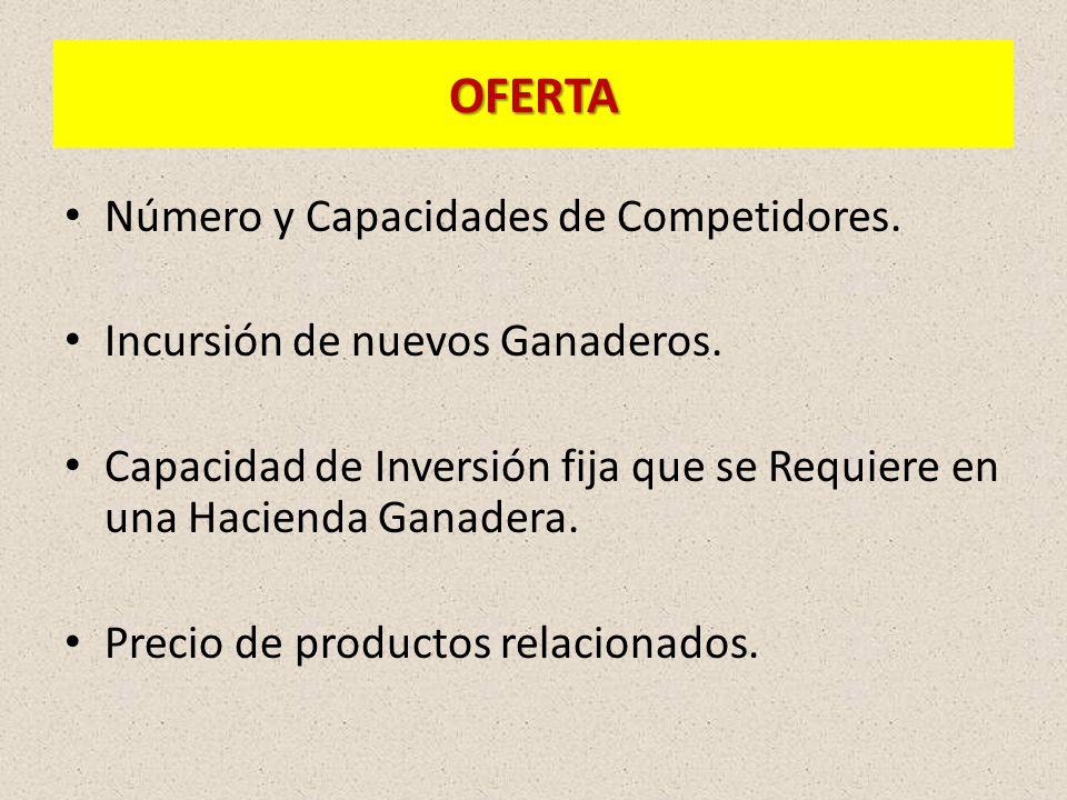 OFERTA Número y Capacidades de Competidores.