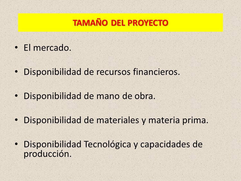 Disponibilidad de recursos financieros.