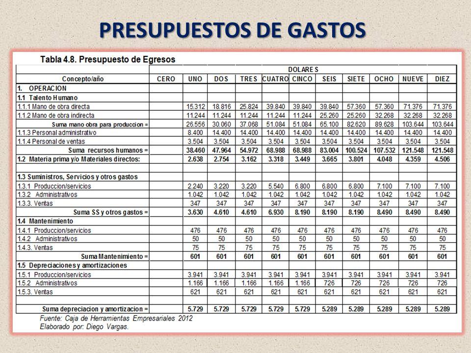 PRESUPUESTOS DE GASTOS