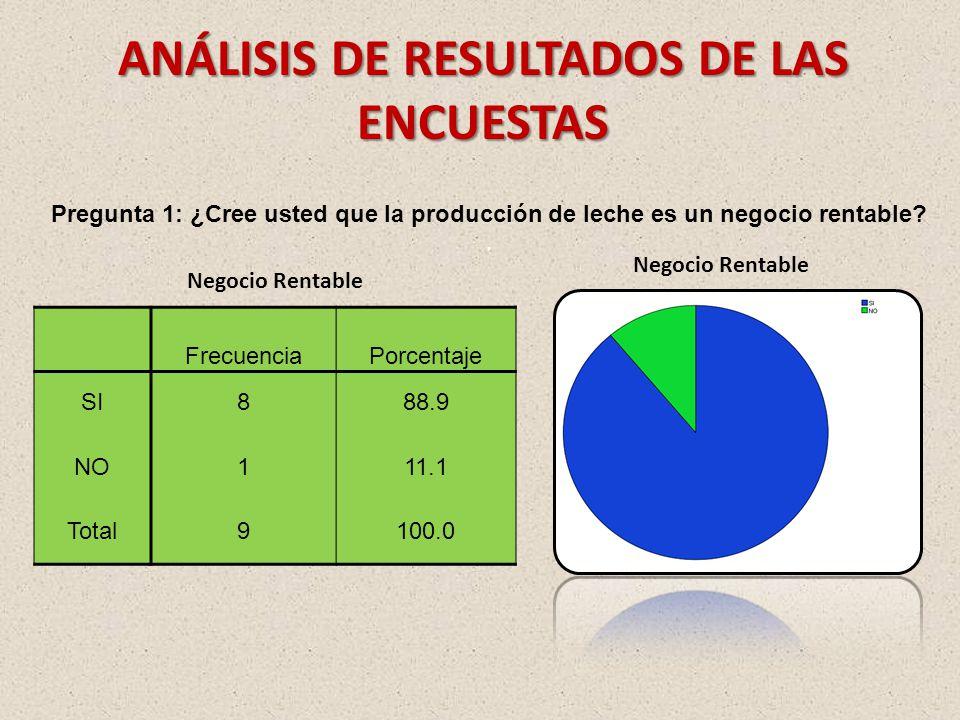 ANÁLISIS DE RESULTADOS DE LAS ENCUESTAS