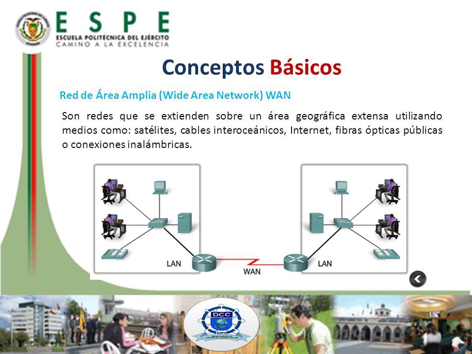 Conceptos Básicos Red de Área Amplia (Wide Area Network) WAN