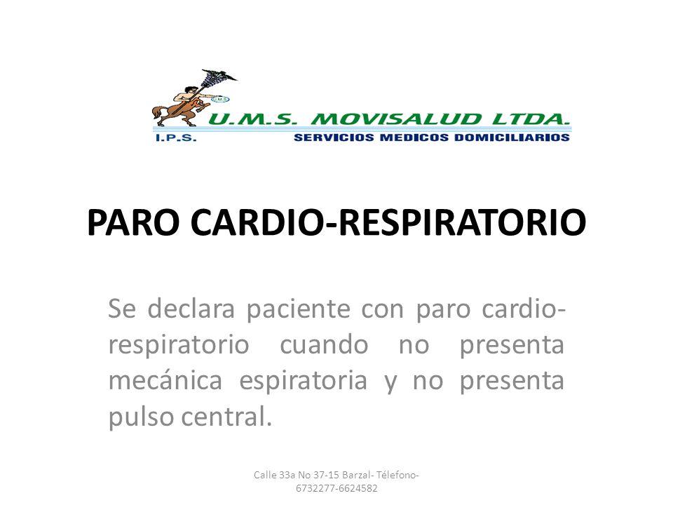 PARO CARDIO-RESPIRATORIO