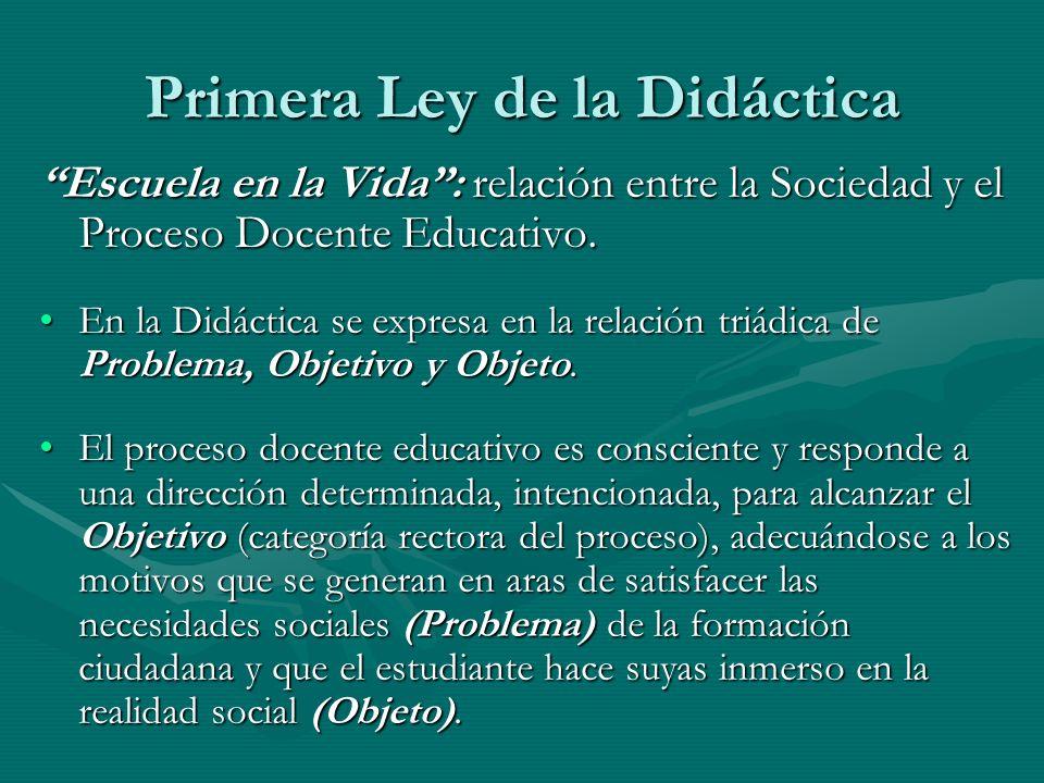 Primera Ley de la Didáctica