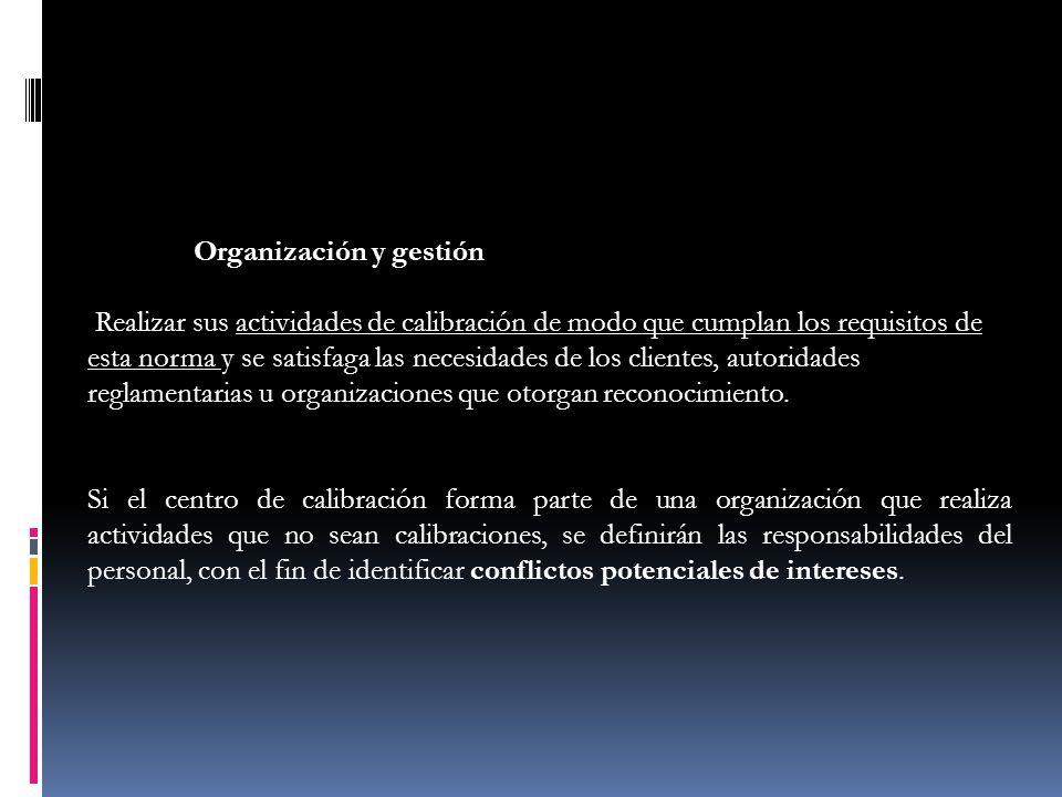 Organización y gestión.