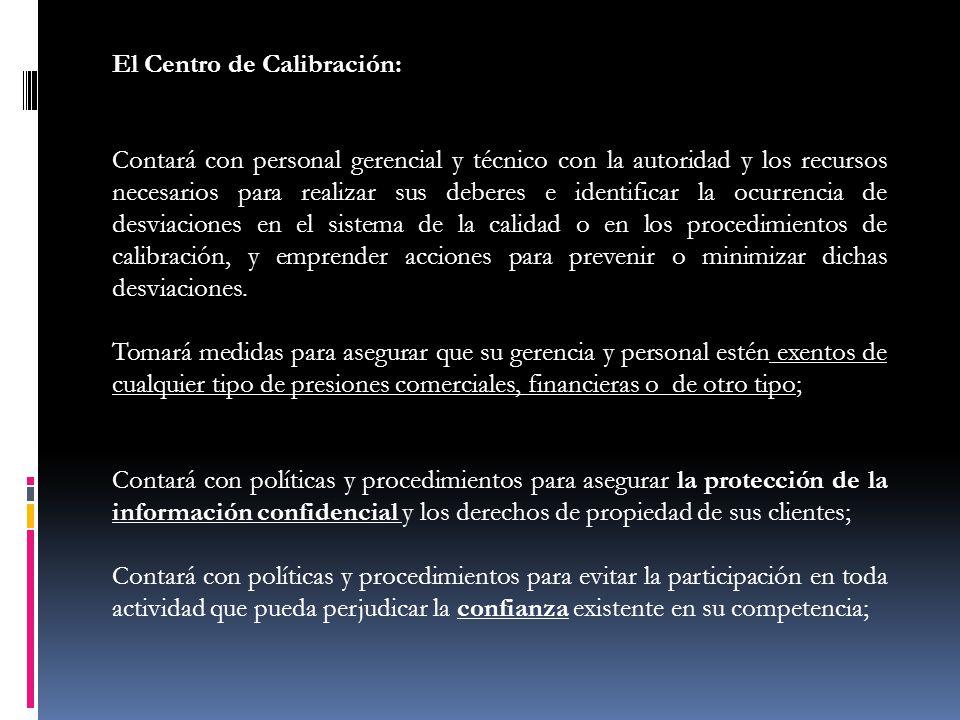 El Centro de Calibración: