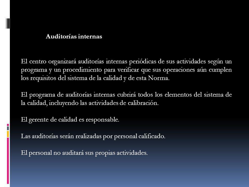 Auditorías internas