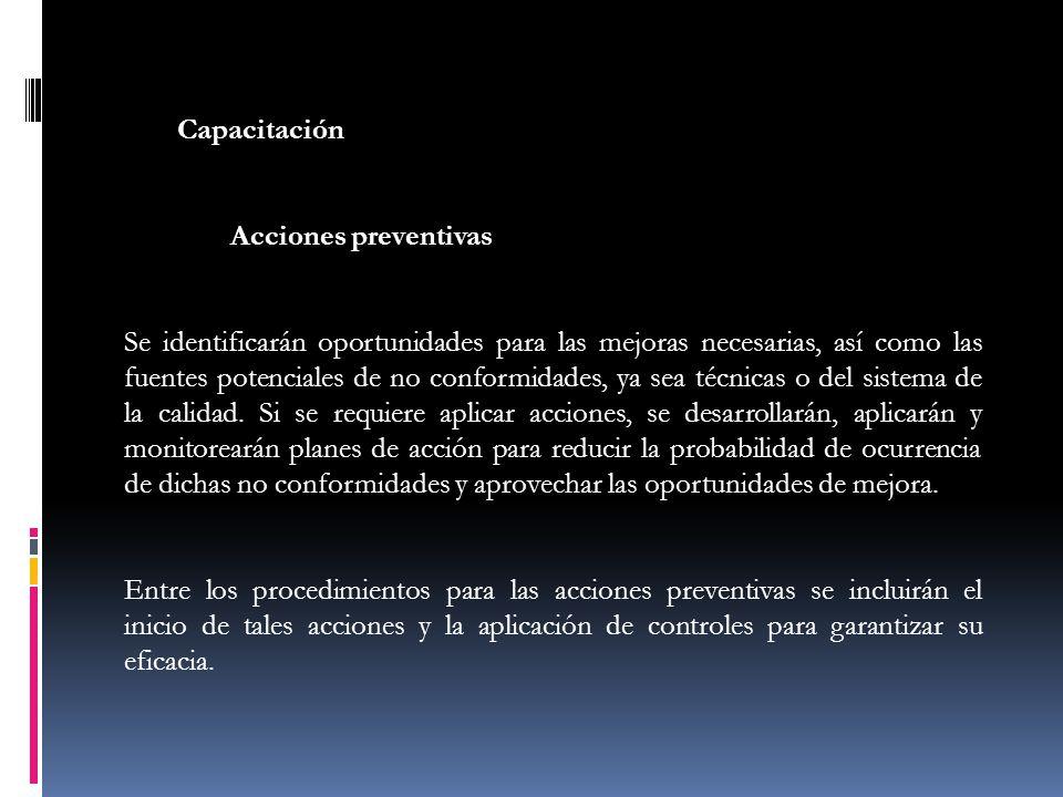 Capacitación Acciones preventivas.
