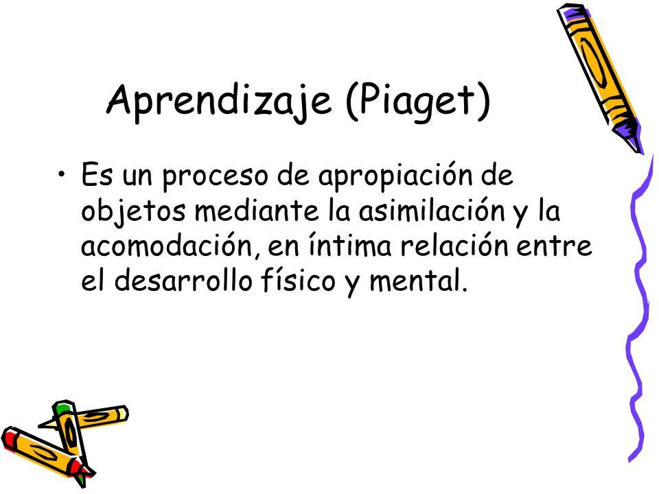 Aprendizaje (Piaget)
