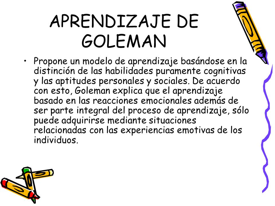 APRENDIZAJE DE GOLEMAN