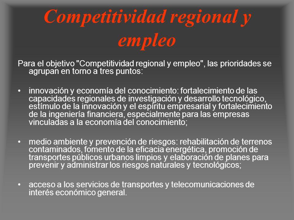 Competitividad regional y empleo