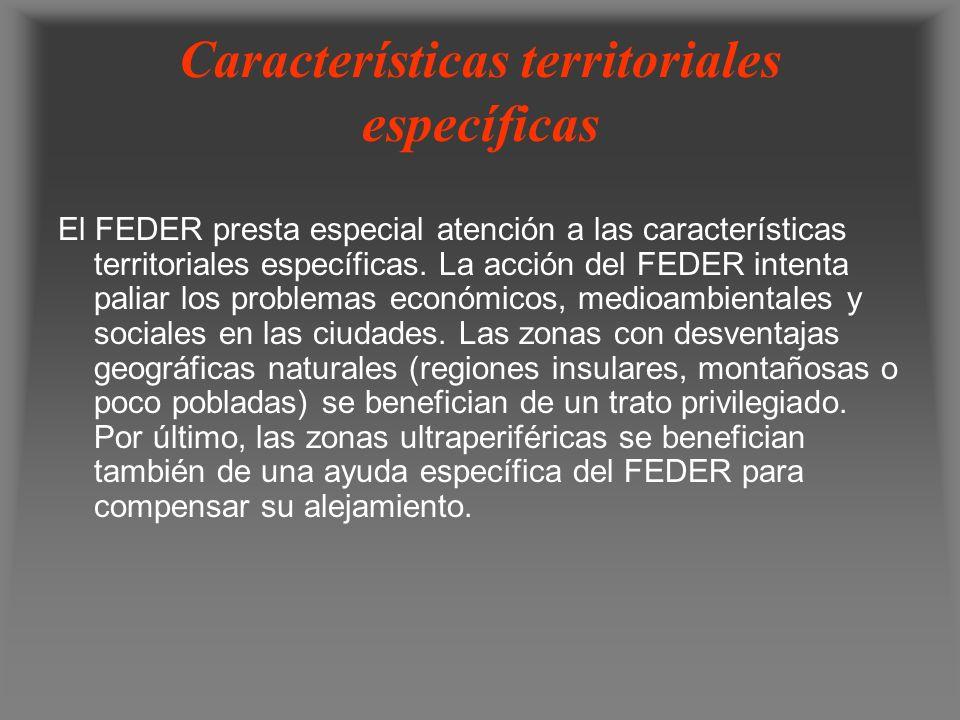 Características territoriales específicas