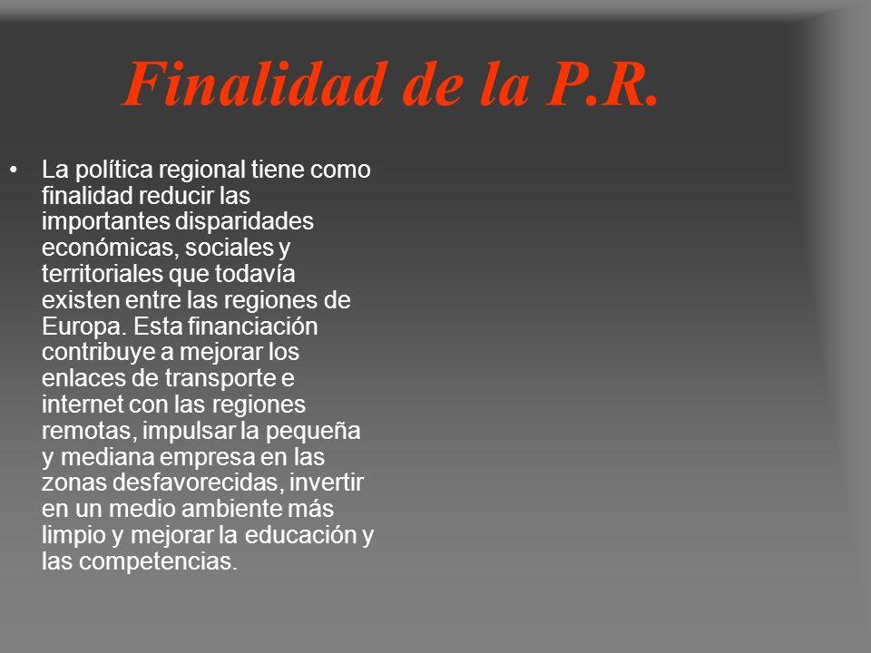 Finalidad de la P.R.