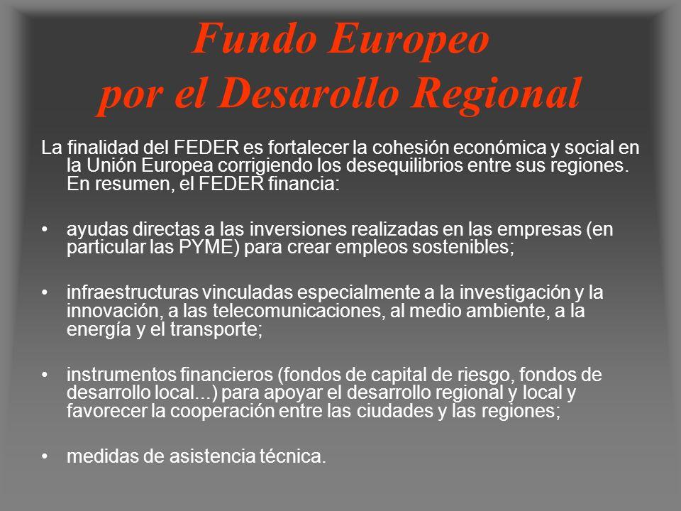 Fundo Europeo por el Desarollo Regional
