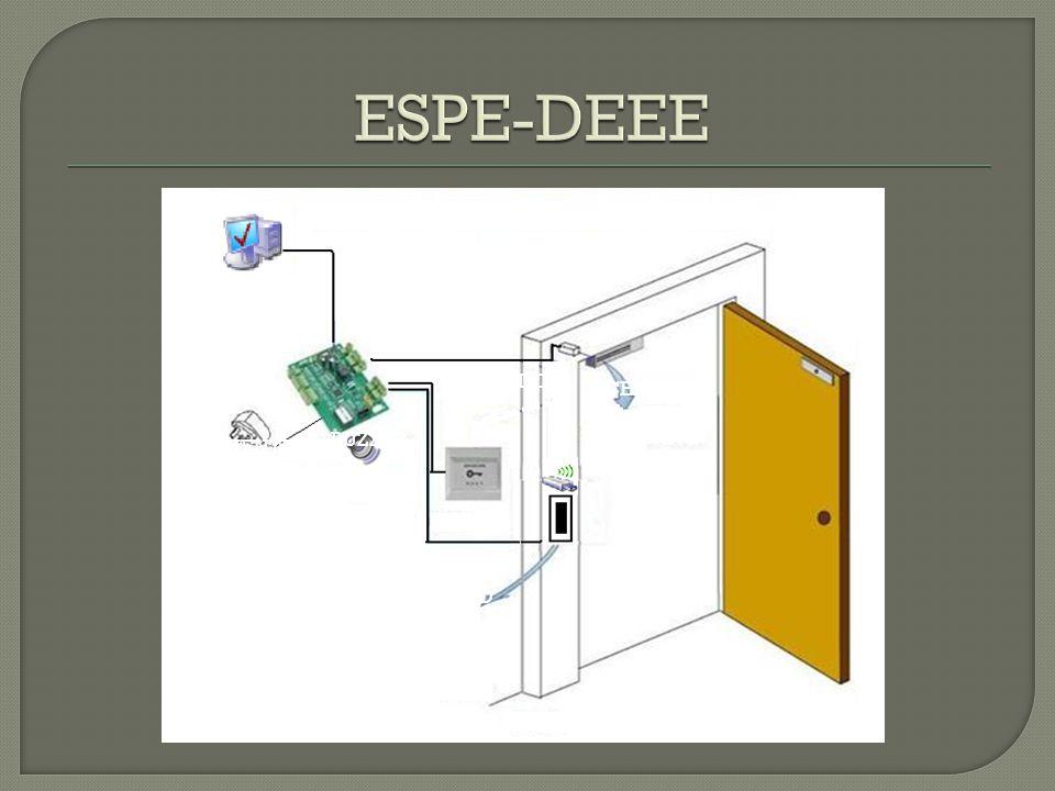 ESPE-DEEE PULSADOR CERRADURA BUZZER FUENTE RFID