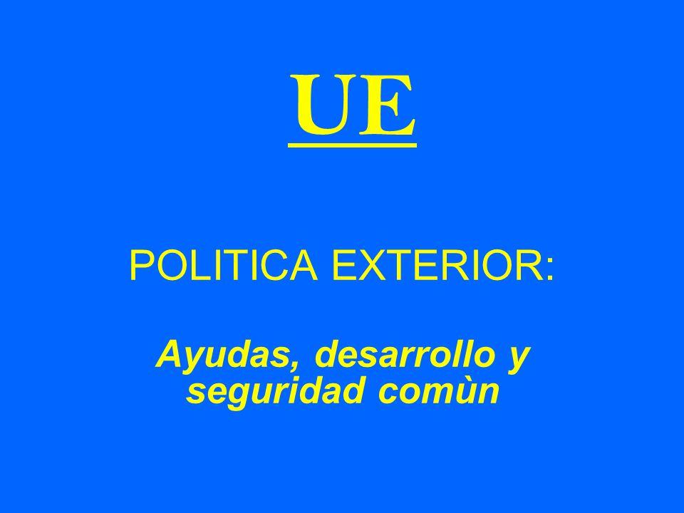 POLITICA EXTERIOR: Ayudas, desarrollo y seguridad comùn