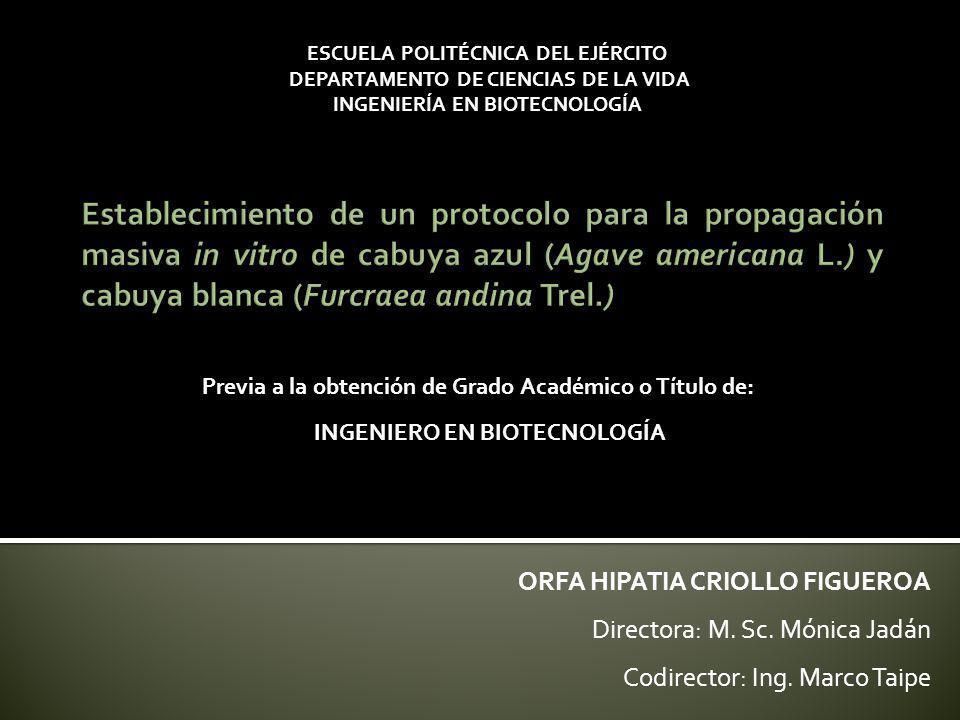 ESCUELA POLITÉCNICA DEL EJÉRCITO INGENIERÍA EN BIOTECNOLOGÍA