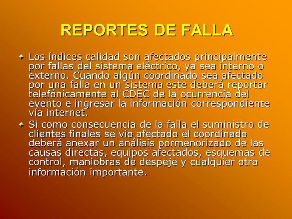 REPORTES DE FALLA