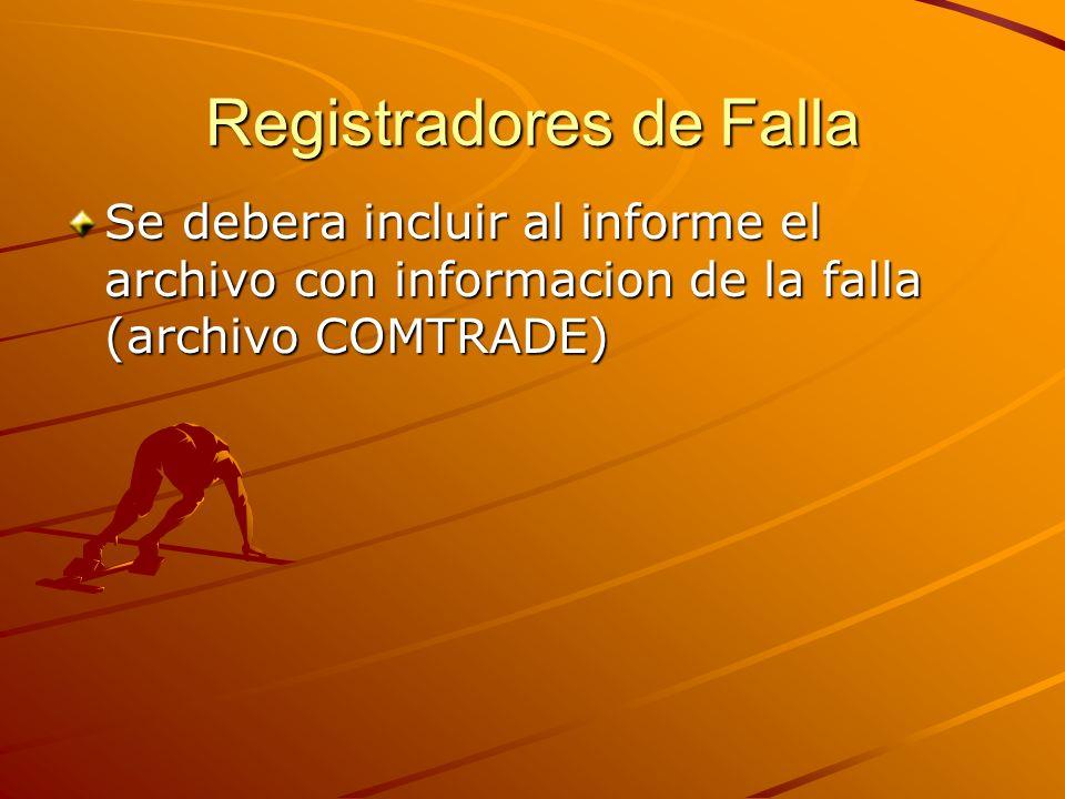 Registradores de Falla