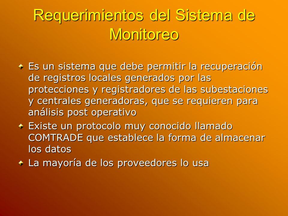 Requerimientos del Sistema de Monitoreo