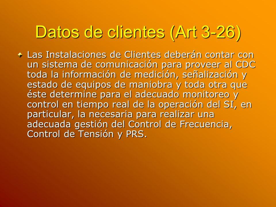 Datos de clientes (Art 3-26)