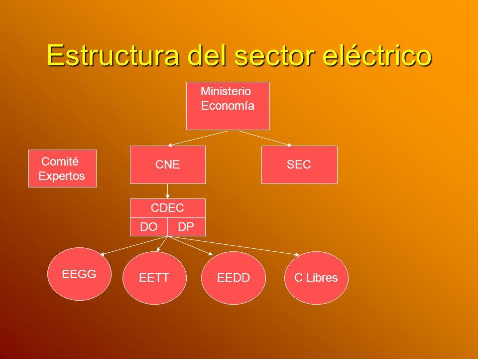 Estructura del sector eléctrico