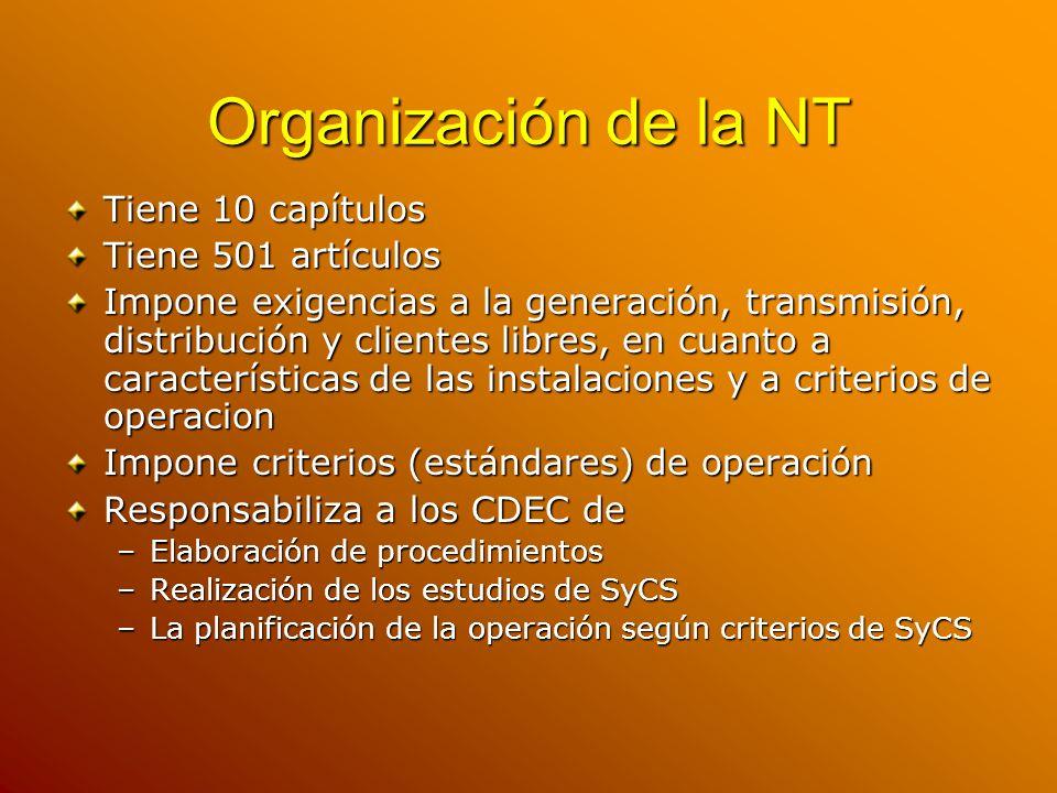 Organización de la NT Tiene 10 capítulos Tiene 501 artículos