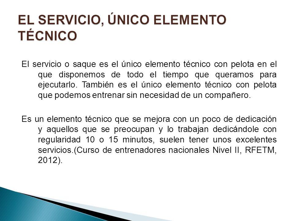 EL SERVICIO, ÚNICO ELEMENTO TÉCNICO