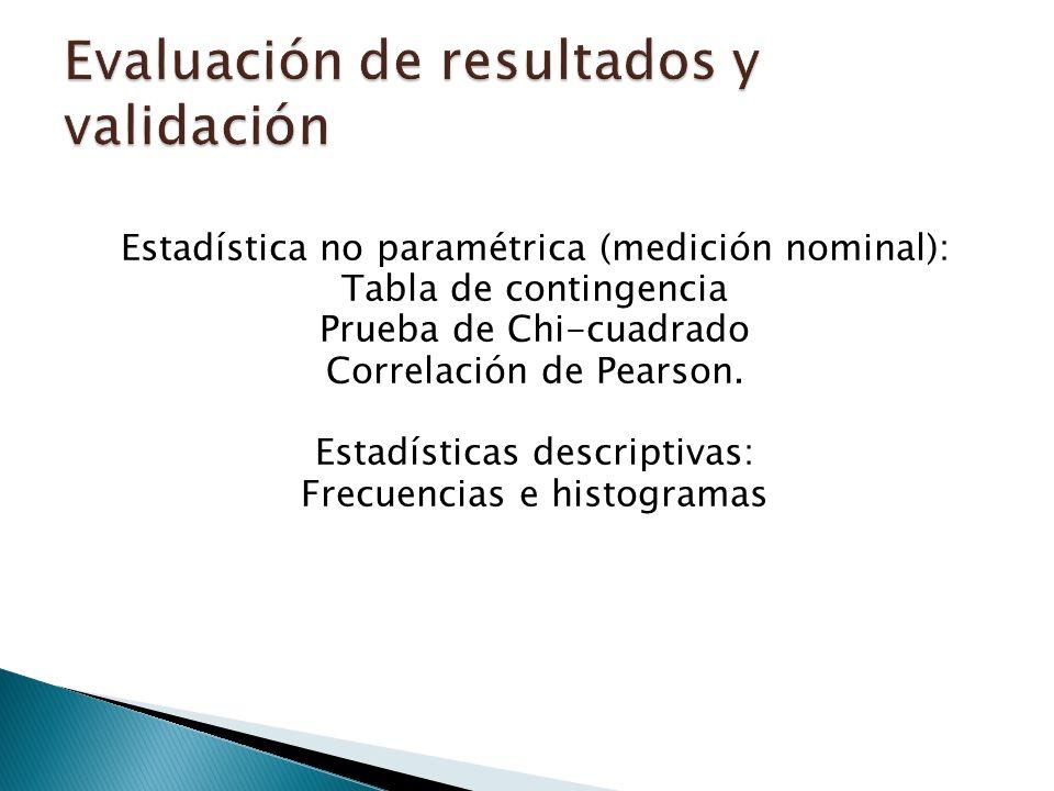 Evaluación de resultados y validación