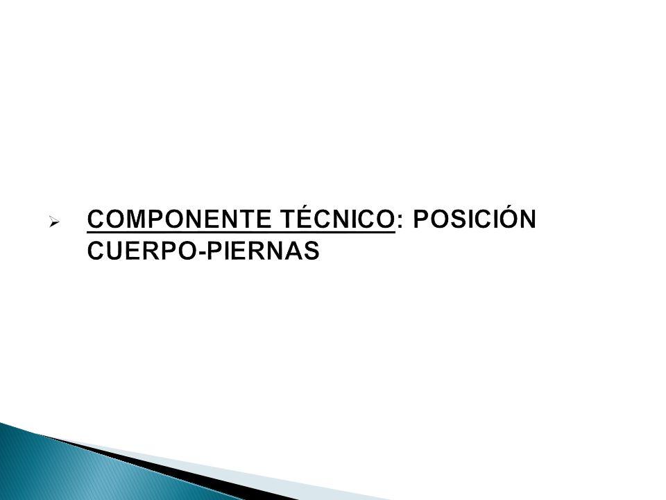 COMPONENTE TÉCNICO: POSICIÓN CUERPO-PIERNAS