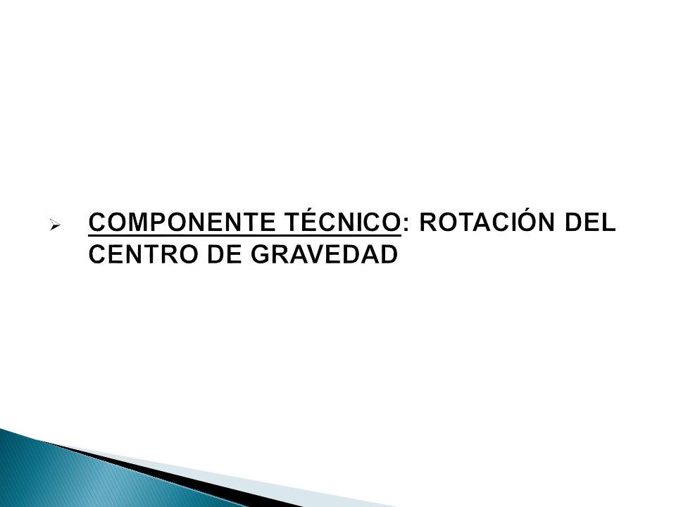 COMPONENTE TÉCNICO: ROTACIÓN DEL CENTRO DE GRAVEDAD