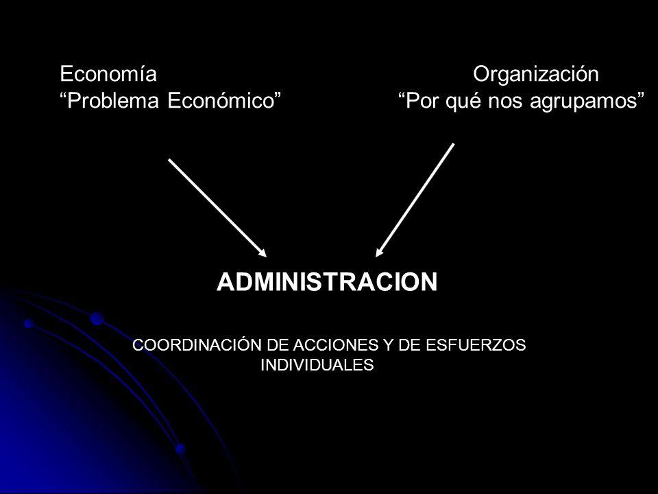 ADMINISTRACION Economía Organización