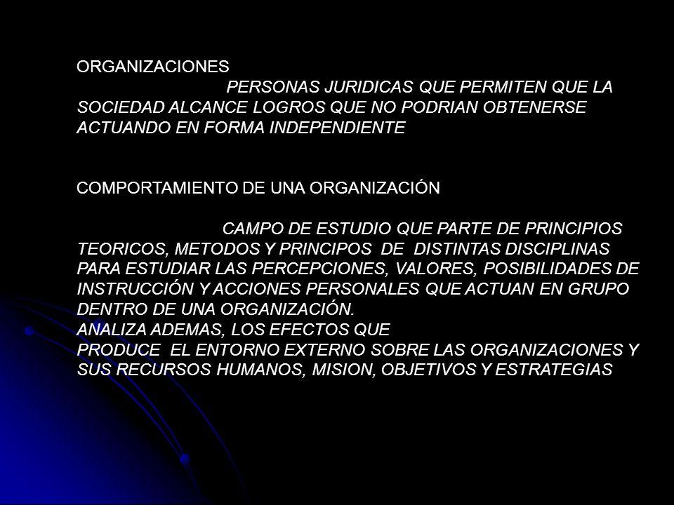 ORGANIZACIONESPERSONAS JURIDICAS QUE PERMITEN QUE LA. SOCIEDAD ALCANCE LOGROS QUE NO PODRIAN OBTENERSE.