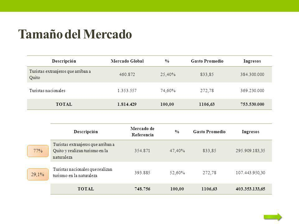 Tamaño del Mercado 77% 29,1% Descripción Mercado Global %