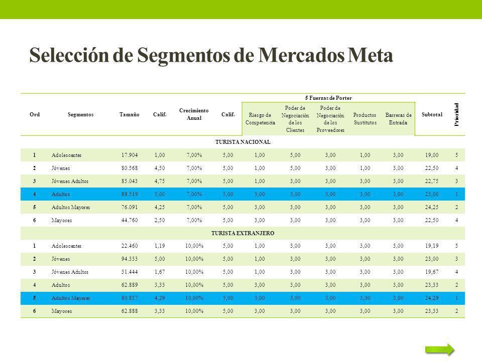 Selección de Segmentos de Mercados Meta