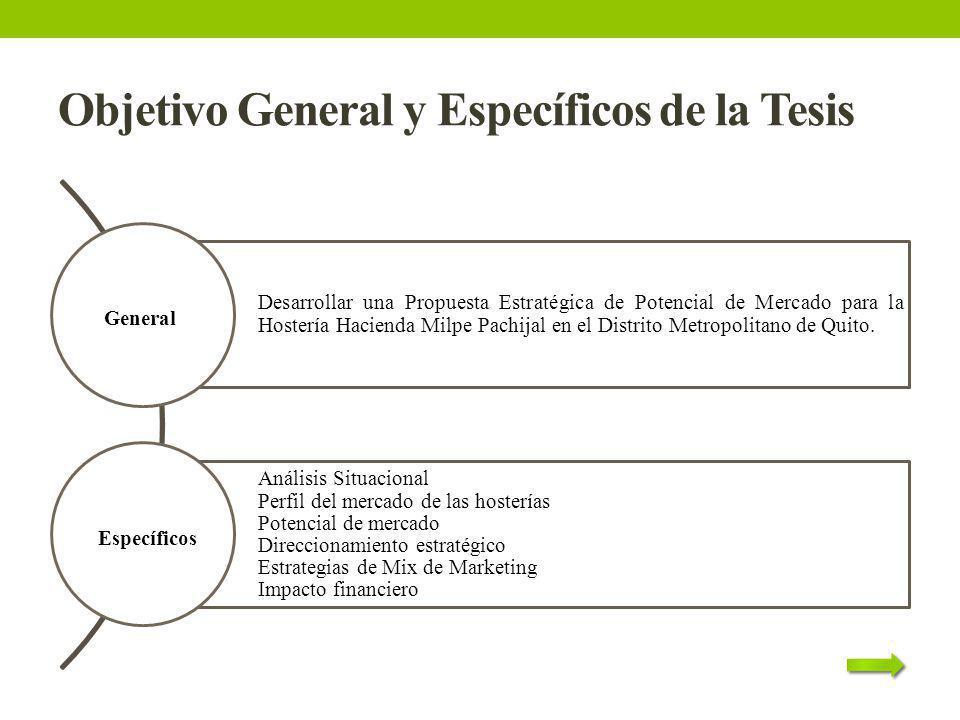 Objetivo General y Específicos de la Tesis