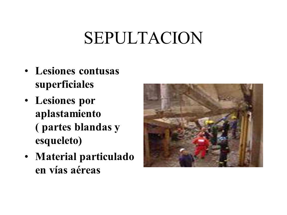 SEPULTACION Lesiones contusas superficiales