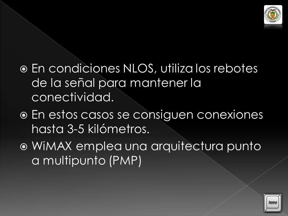 En condiciones NLOS, utiliza los rebotes de la señal para mantener la conectividad.